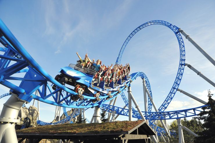 "Foto: GAZPROM, ""blue fire Megacoaster powered by GAZPROM"""