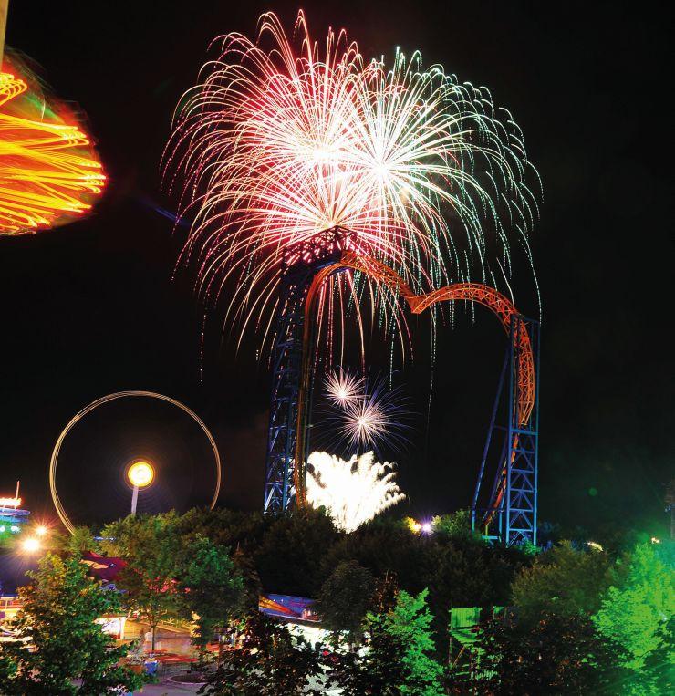 Foto: Skyline Park, Skyline Park bei Nacht