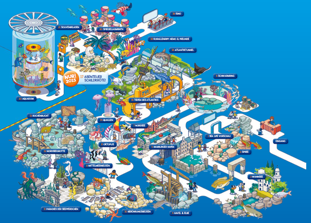 Parkplan AquaDom & SEA LIFE Berlin