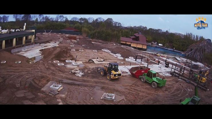 Foto: Movie Park Germany, Bau-Update 06.07.2016