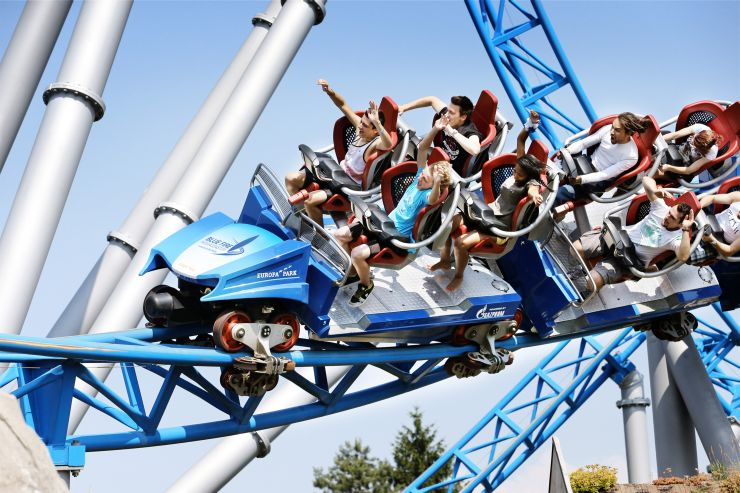 Foto: GAZPROM, blue fire Megacoaster powered by GAZPROM