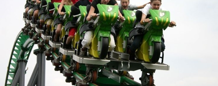 "Neu 2016 im Skyline Park – ""Sky Dragster"" – Stärkster Motorbike-Coaster der Welt"