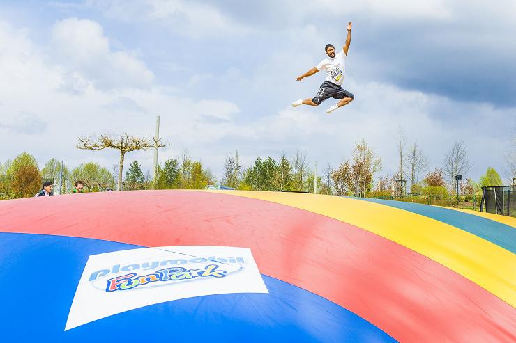 Foto: Playmobil Funpark, Das neue Riesen-Hüpfkissen