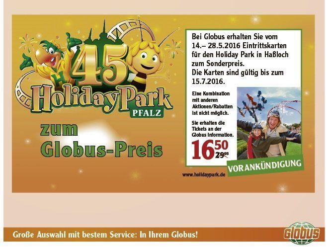 Foto: Globus Prospekt, Gutschein Holiday Park 2016