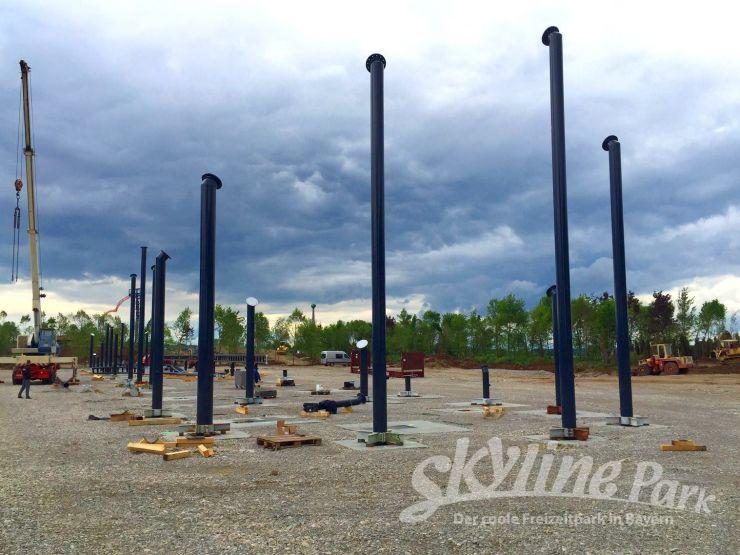 Foto: Skyline Park, Bau-Update Sky Dragster 03.06.2016