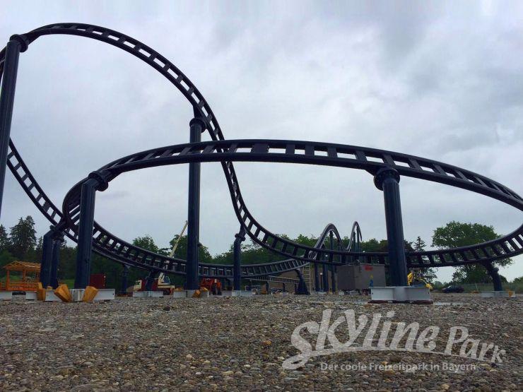 Foto: Skyline Park, Bau-Update Sky Dragster 08.06.2016