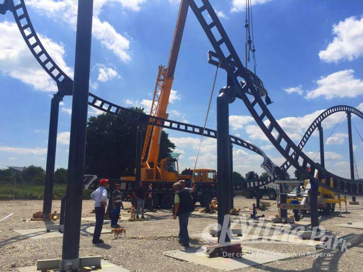 Foto: Skyline Park, Bau-Update Sky Dragster 10.06.2016