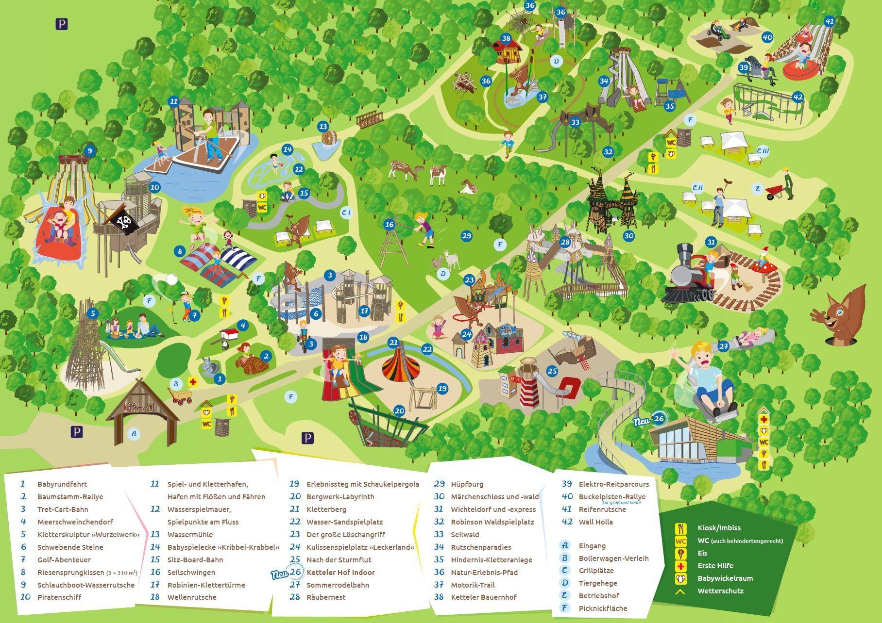 Parkplan Erlebnispark Ketteler Hof