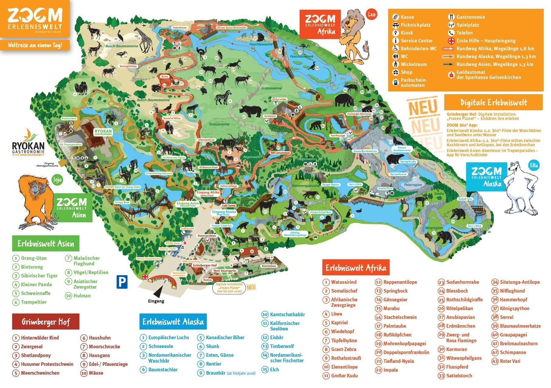 Parkplan ZOOM Erlebniswelt