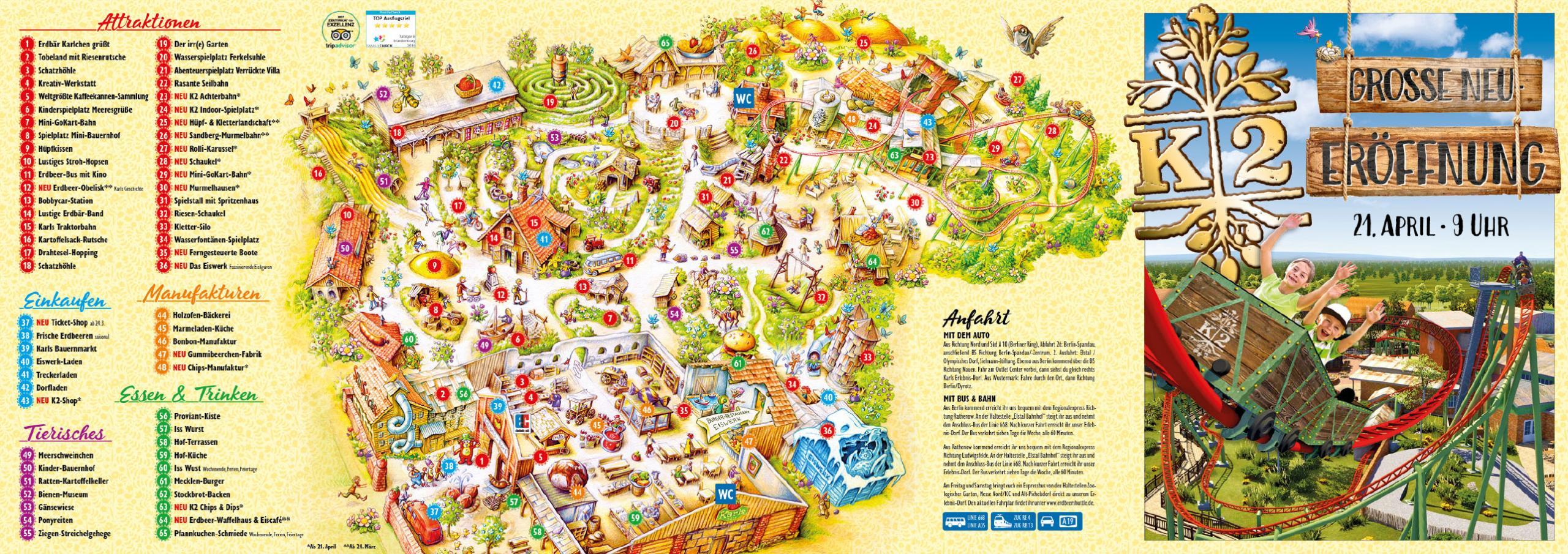 Parkplan Karls Erlebnis-Dorf Elstal