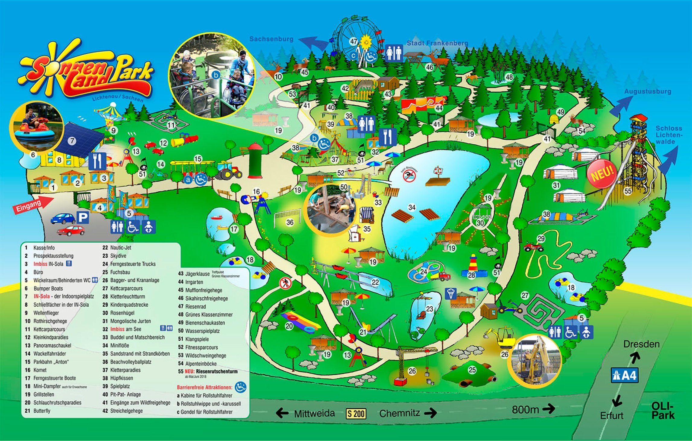Parkplan Sonnenlandpark Lichtenau
