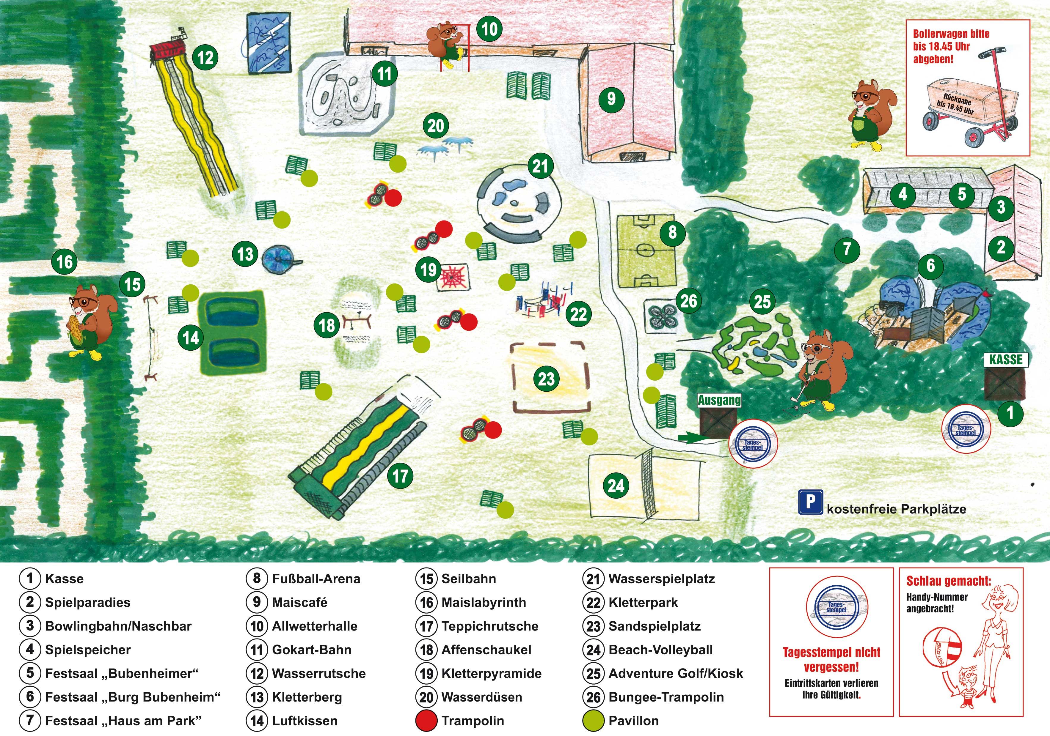 Parkplan Bubenheimer Spieleland