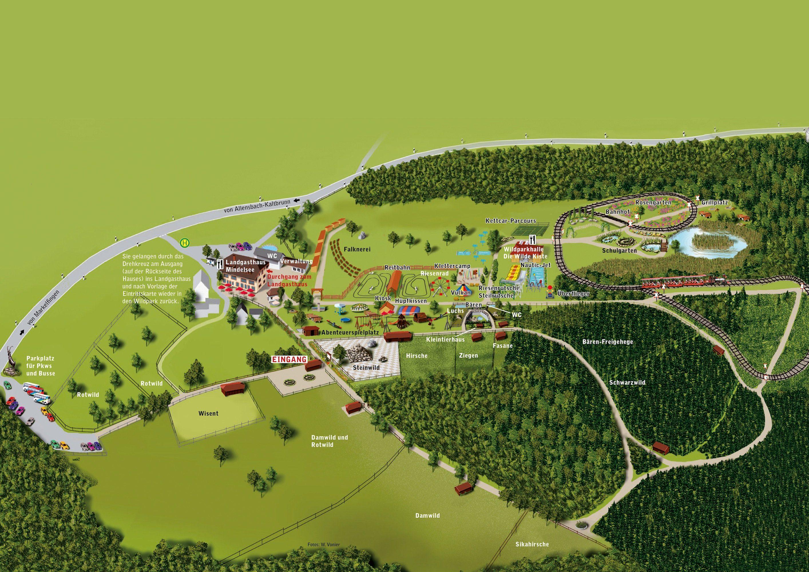 Parkplan Wild- und Freizeitpark Allensbach/Bodensee