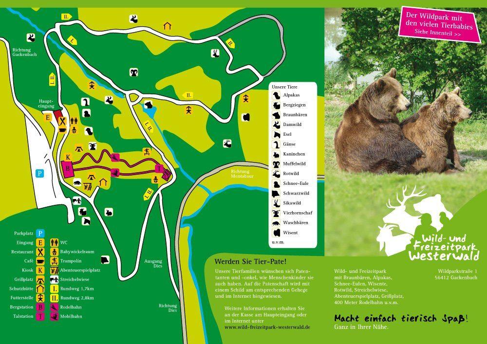 Parkplan Wild-und Freizeitpark Westerwald