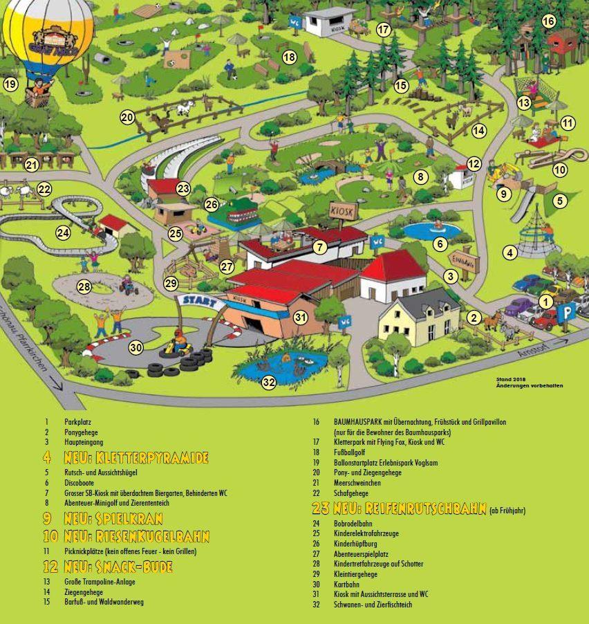 Parkplan Erlebnispark Voglsam