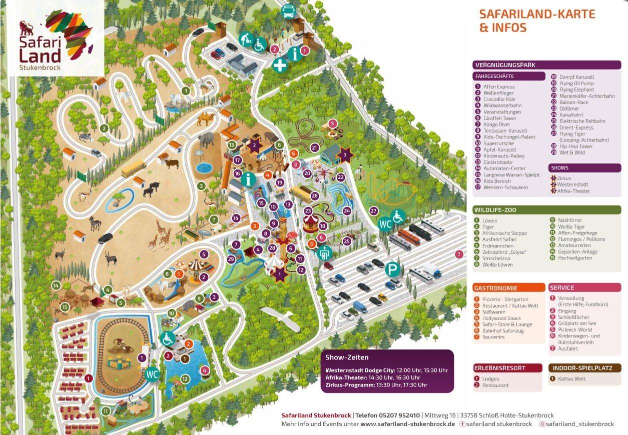 Parkplan Safariland Stukenbrock