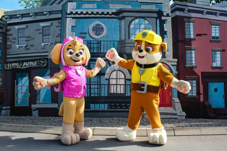 Paw Patrol Skye und Rubble im Movie Park Germany
