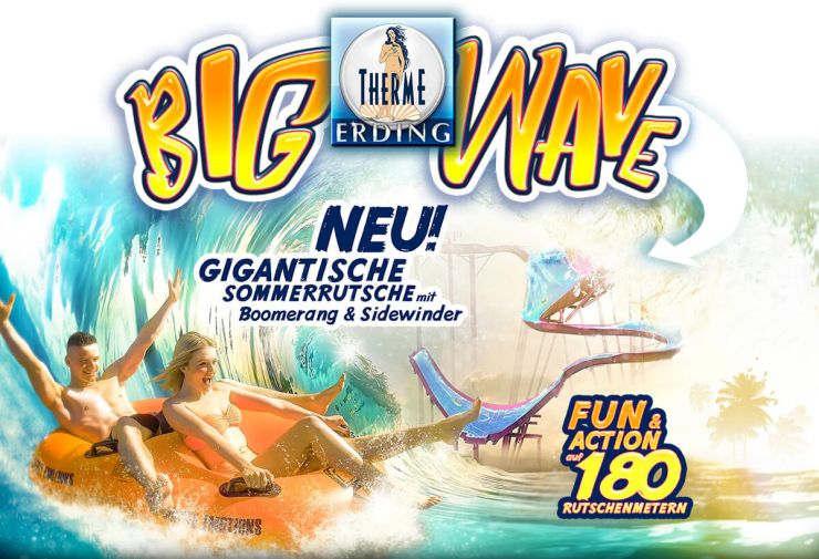 """Big Wave"" in der Therme Erding"