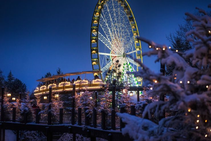 Winter atmosphere in Europe-Park